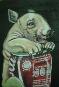 """Març 2011 Hono és un artista nat, dels quals no es planteja ser artista, ha nascut per a l'art i viu dins d'ell, ho plasma en qualsevol superfície amb qualsevol eina que taqui, """"Consciència del reciclatge"""", art figuratiu a baix cost, boceteo i collage d'idees a color de retolador, fotos de revista i esbossos de graffitis en petit format sense un rerefons artístic més que a cada un / una li transmeti, això si amb tot l'afecte del món. 200 obres numerades i signades per l'autor"""