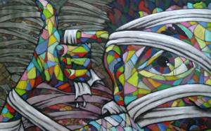 Del 9 al 31 d'Octubre del 2008  Lake va néixer a Berlín-Est al 1979. Va tenir la sort de viure els primers 11 anys de la seva vida en un país no capitalista. Al 1992 es va iniciar en el món del Graffiti i des del 1996 viu de les seves pintures, principalment pintades sobre paret. Ha treballat a diversos països com ara a Alemanya, Canadà, Mèxic, Xile, ... i també ha treballat diferents estils. A Lake, el Graffiti li serveix com a arma per expressar la seva acció-reacció contra la situció de l'art en el món actual.