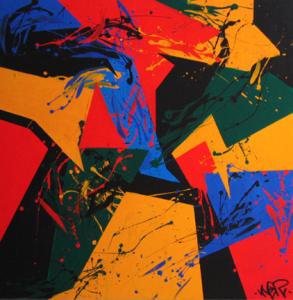 """"""" Es impossible pensar que el color no pot anar acompanyat de una forma preestablerta ja que conscientment pensem que entre color i forma existeix una relació mútua, inevitable i eterna per naturalesa. En aquesta mostra proposo un punt de reflexió sobre aquesta dualitat tan existencial i el trencament del seu tòpic. """" Partint de que no existeix cap color lliure sense forma alguna, he volgut enfocar aquesta obra com a base de una pintura purament conceptual. Normalment per costums empírics tendim a pensar que el color es merament un concepte que ens fa activar els nostres sentits així com les retines, sigui per vibració, per timbre, per sentiment, equilibri, estètica.. sigui com sigui la forma hi es excempte ja que es part de un altre concepte."""