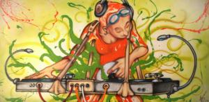 Exposició DJ's del 15 de desembre de 2005 al 28 de gener de 2006 En un primer cop d'ull ens pot semblar que és un dibuix ràpid i fàcil de realitzar, potser ens recorda al còmic per la seva expressivitat, tot i així si ens aturem a observar els petits detalls, les textures, els relleus, els colors, ens adonem que darrera de cada quadre hi ha hagut una procés reflexiu basat en idear com transmetre un tipus de música, en estudiar el comportament dels discjockeys, com es mouen, com actuen, en crear un format i una composició,... Desprès d'aquest anàlisi descobrirem una altra dimensió amagada darrera l'aparença, que ens permet pensar en interpretacions no evidents. Anna Farrés