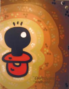 del 5 al 28 de juny de 2008 Elxupetnegre és una icona que representa un xumet de color negre. Apareix als carrers de Barcelona el 1987, al principi només pinta amb retolador, i durant dos anys pinta per  tota la ciutat i els voltants. Són els primers anys del graffiti a BCN, encara que aquesta paraula gairebé no es coneix ni s'utilitza, simplement es diu: anem a pintar... al carrer.